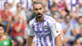 Borja Fernández, en un partido del Valladolid