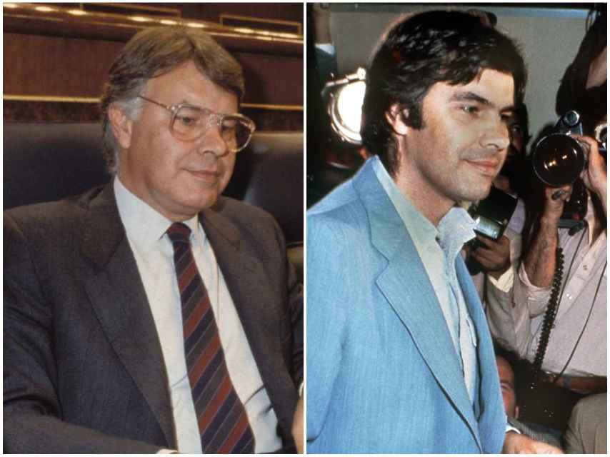 A la izquierda Felipe en 1990. A la derecha, en una imagen de 1990.