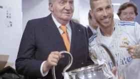 Juan Carlos I en la fiesta del Real Madrid