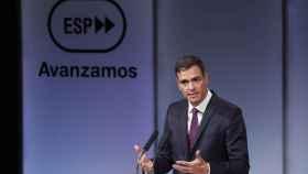 Sánchez, en el acto solemne de este lunes en el que anunció su reforma de los aforamientos.