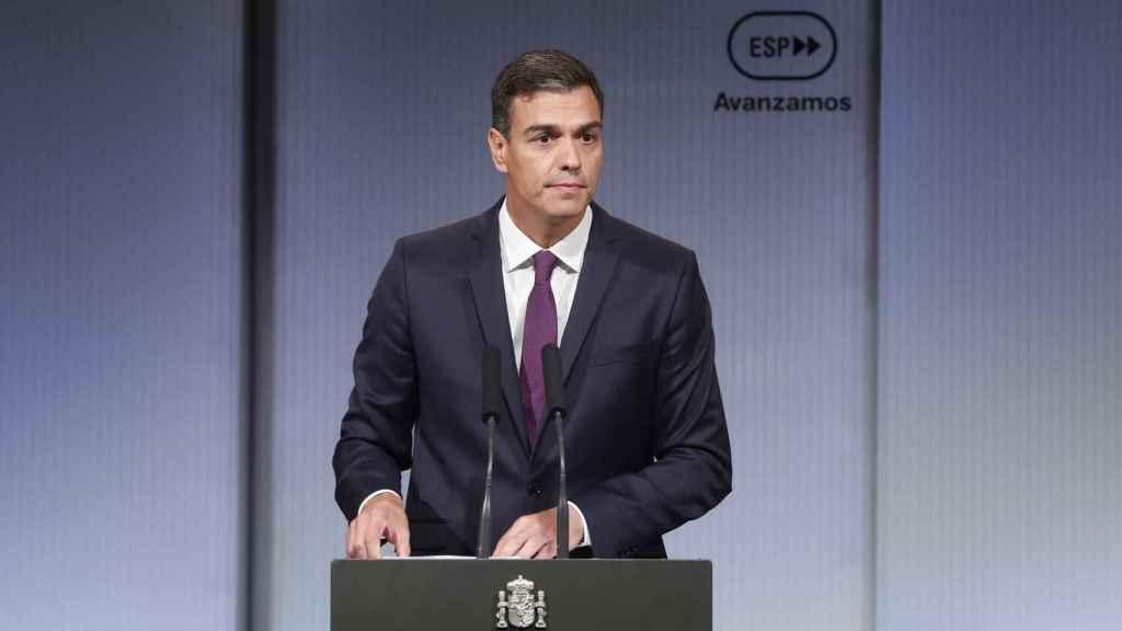 Pedro Sánchez en el acto Avanzamos en Madrid.