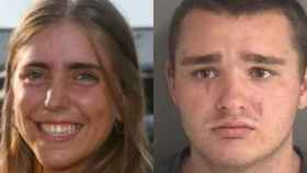 La joven golfista Celia Barquín y su presunto asesino, Collin Daniel Richards.