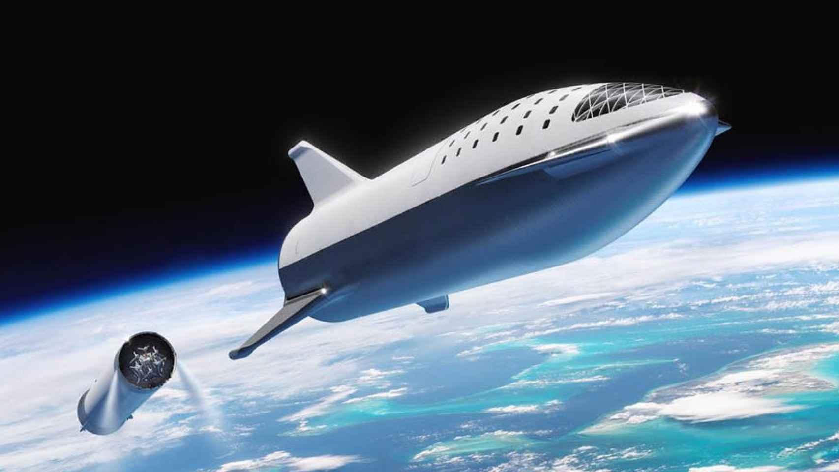 bfr big falcon rocket primer viaje turistico a la luna spacex