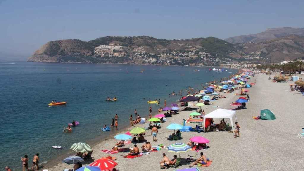 Playa en Almuñécar.