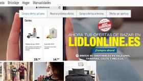 Portada de la nueva web de Lidl.