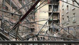 Así ha quedado el edificio tras el accidente