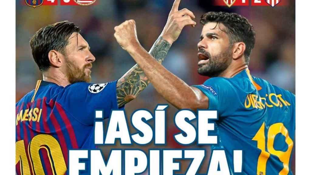 La portada del diario MARCA (19/09/2018)