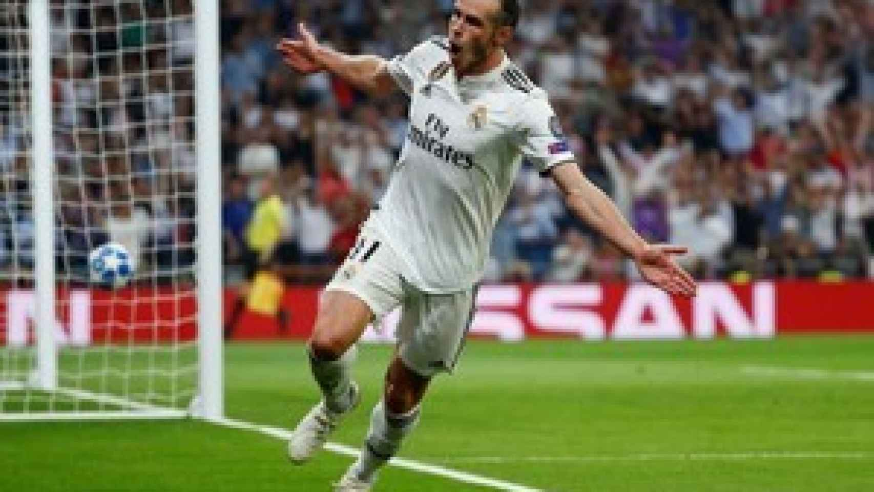Bale celebrando su gol ante la Roma