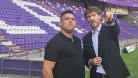 Ronaldo Nazario, en Valladolid