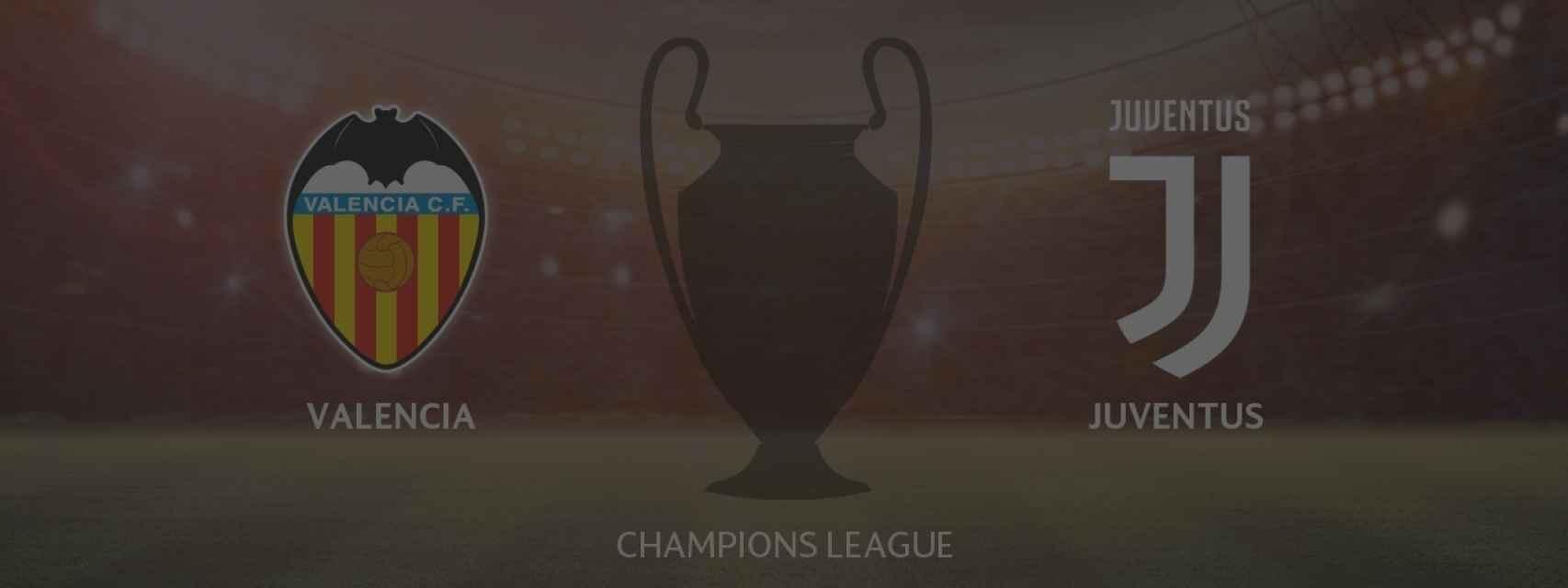 Valencia - Juventus, siga en directo el partido de la Champions League