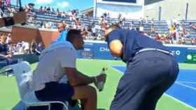 Lahyani consuela a Kyrgios en el US Open.