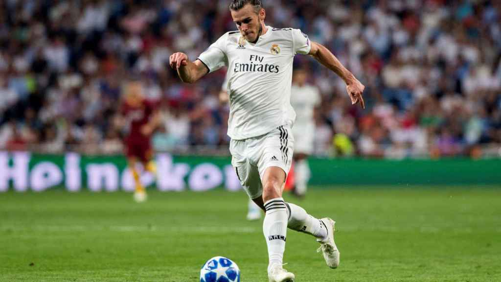 Bale, en un partido del Real Madrid