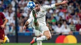 Carvajal, en el partido de la Champions entre Real Madrid y Roma