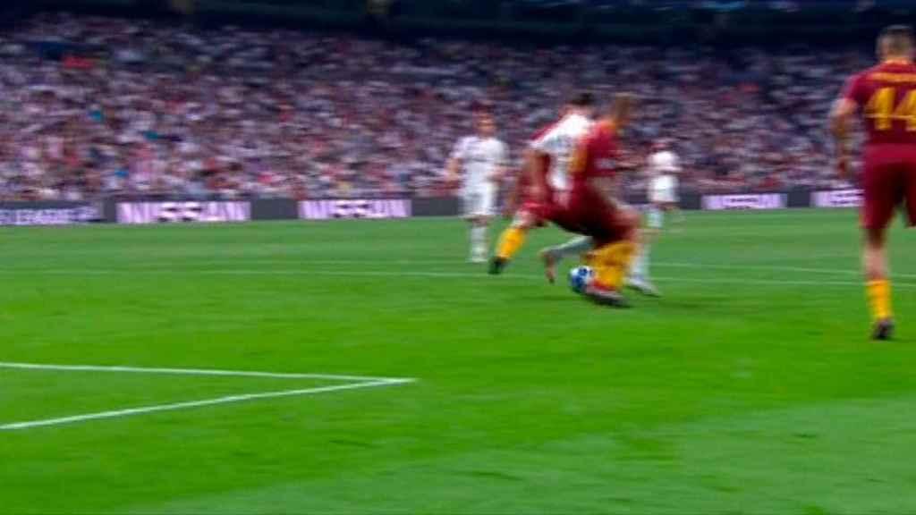 Ruleta de Marco Asensio ante la Roma