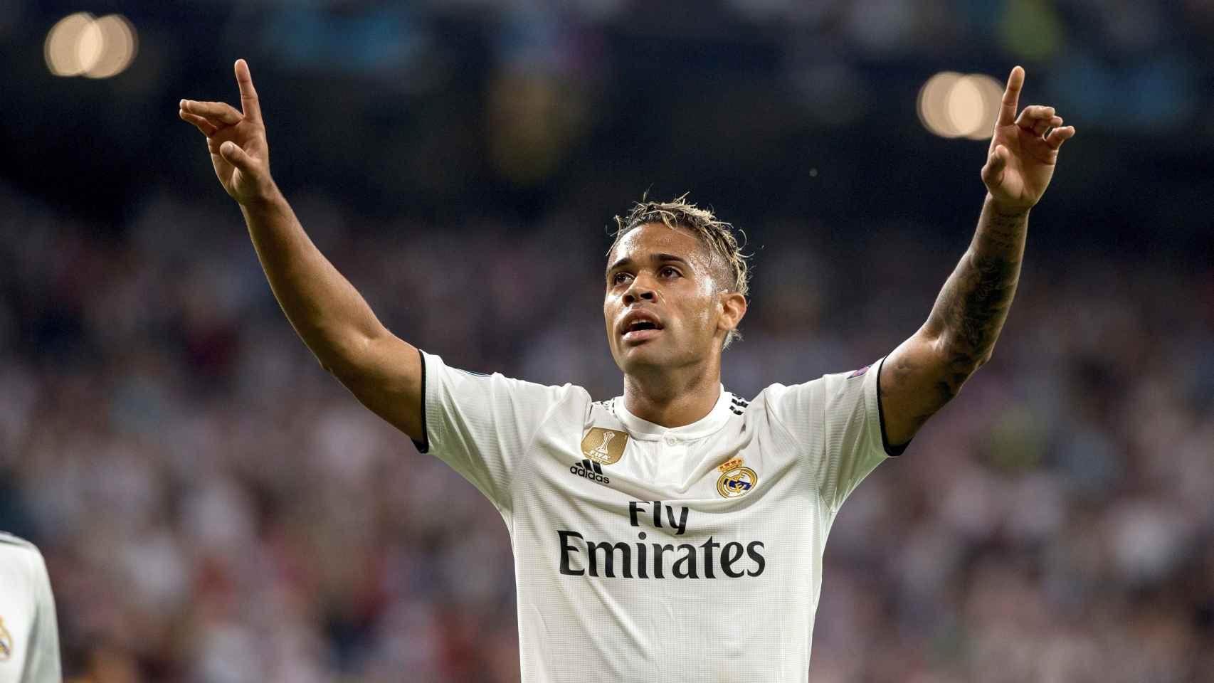 Mariano Díaz celebra su gol ante la Roma