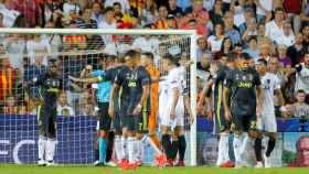 Cristiano Ronaldo, expulsado con la Juventus ante el Valencia
