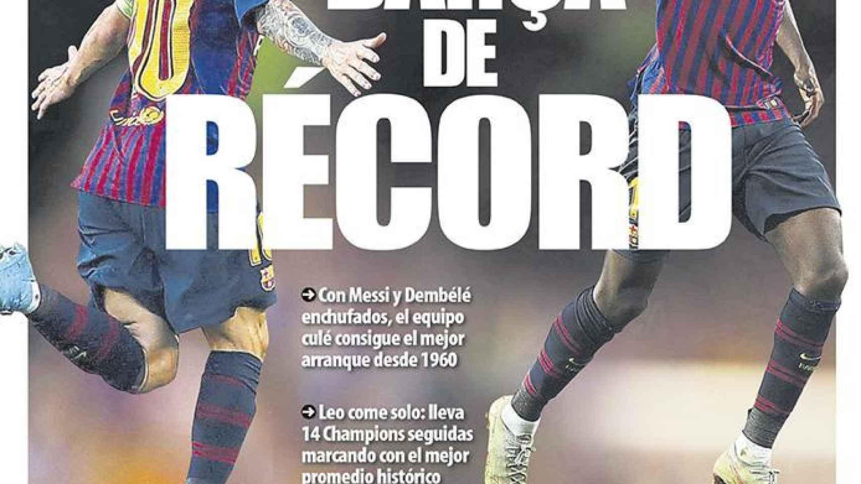 Portada Mundo Deportivo (20/09/2018)