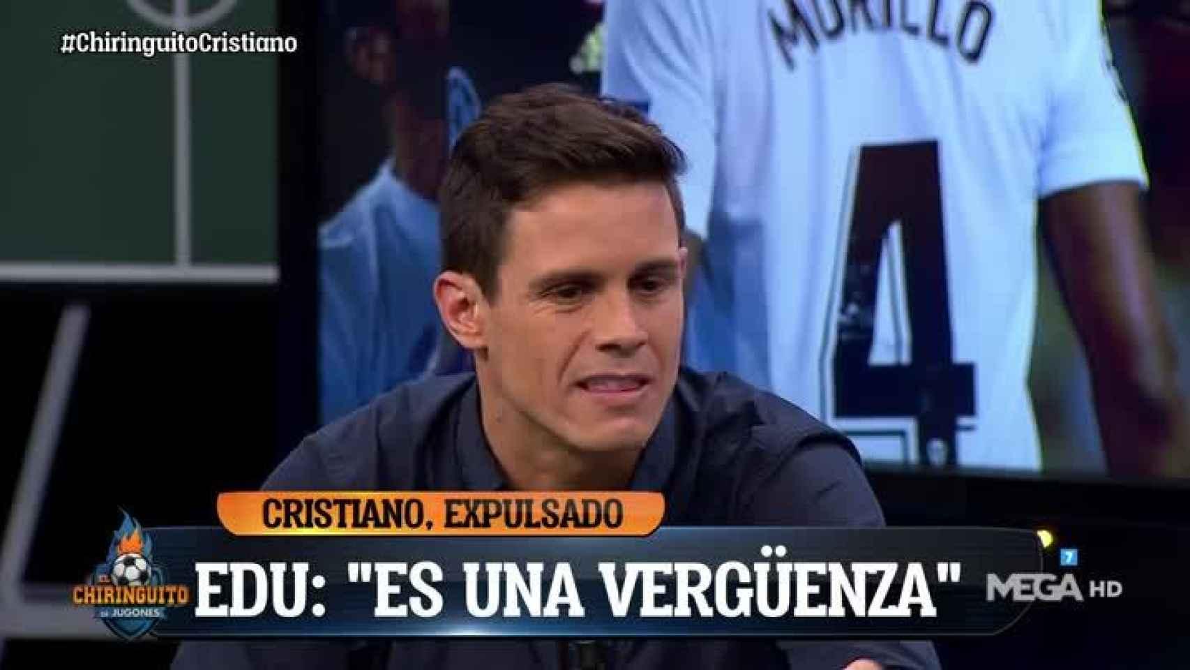 Edu Aguirre en El Chiringuito. Foto: Twitter. (@elchiringuitotv)
