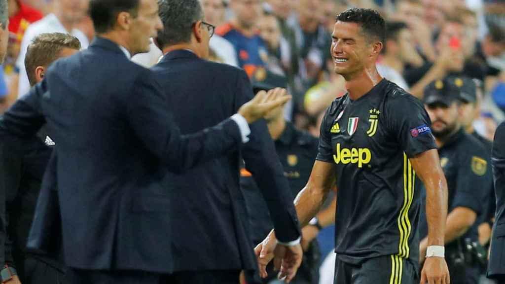 Cristiano Ronaldo, tras ser expulsado.