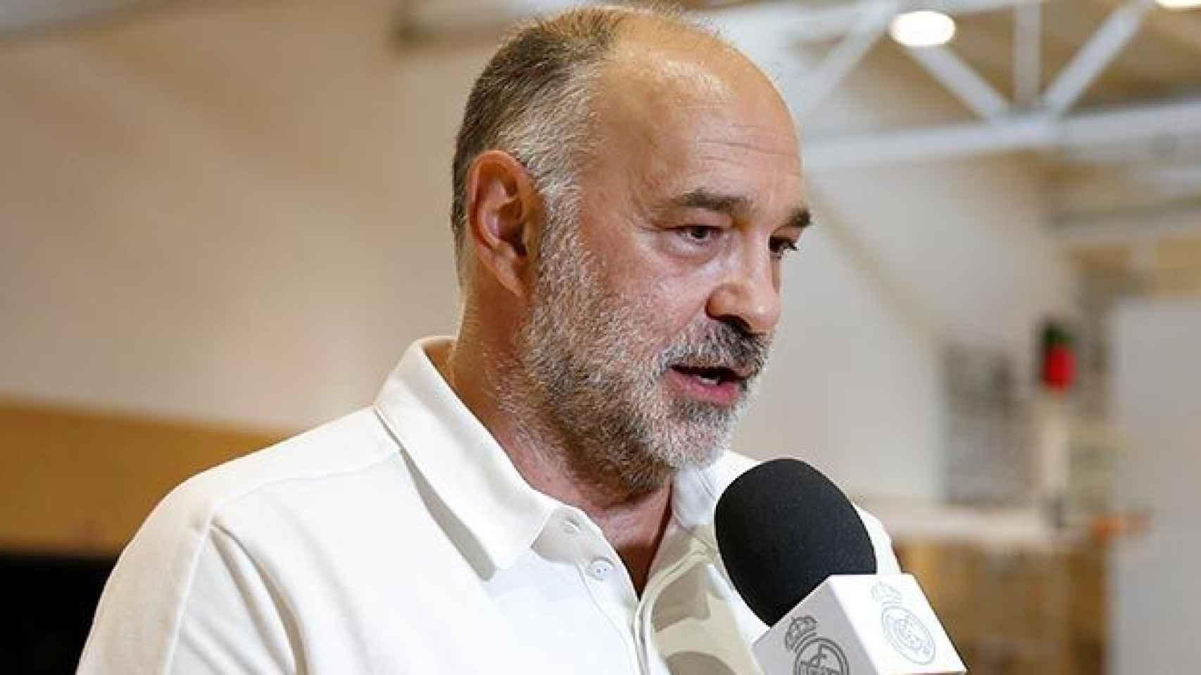 Pablo Laso comparece ante los medios de comunicación