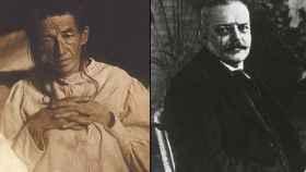 Auguste Deter (izqda) y Alois Alzheimer (drcha)