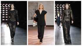 Modelos de Jil Sander y Alberta Ferretti.