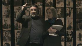 Nuria Espert y Andrés Lima en El pan y la sal.
