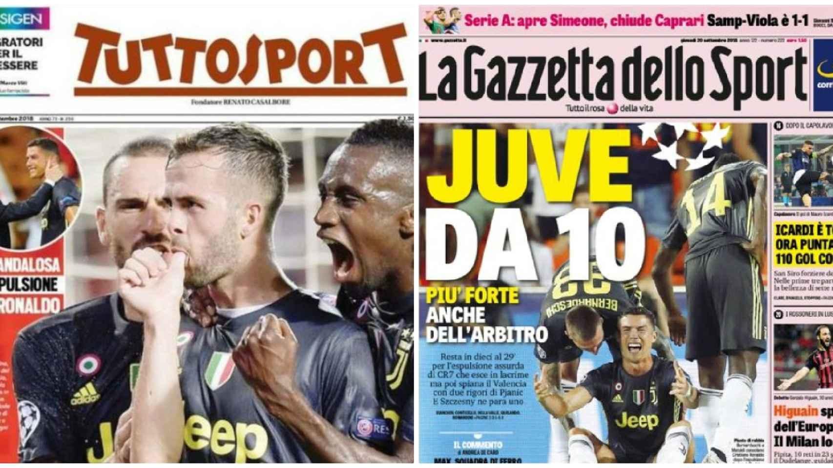 Las reacciones desde Italia.