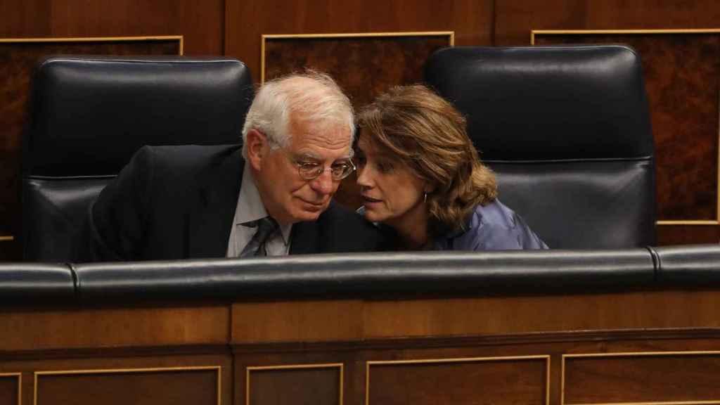 Borrell y la ministra de Justicia en el Congreso.