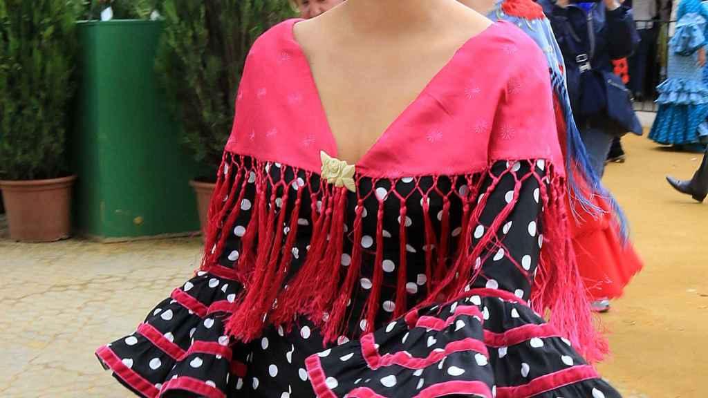 Tania Rivera en la Feria de Abril de Sevilla.