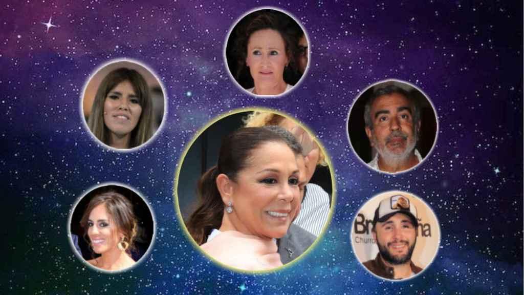 Montaje de Anabel, Chabelita, Dulce, Agustín, Kiko e Isabel Pantoja.