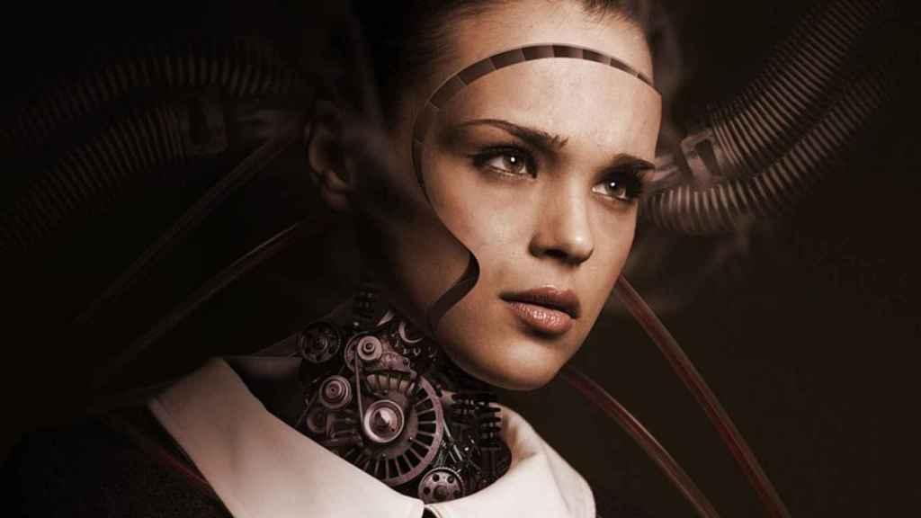 Interpretación de una Inteligencia Artificial futurista.