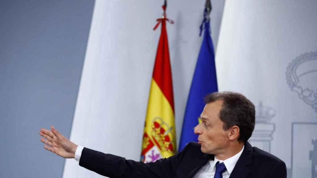 Pedro Duque, recientemente en una rueda de prensa en Moncloa.