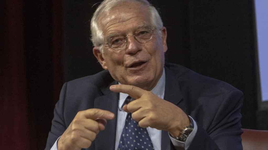 Josep Borrell, en la conferencia en Nueva York.