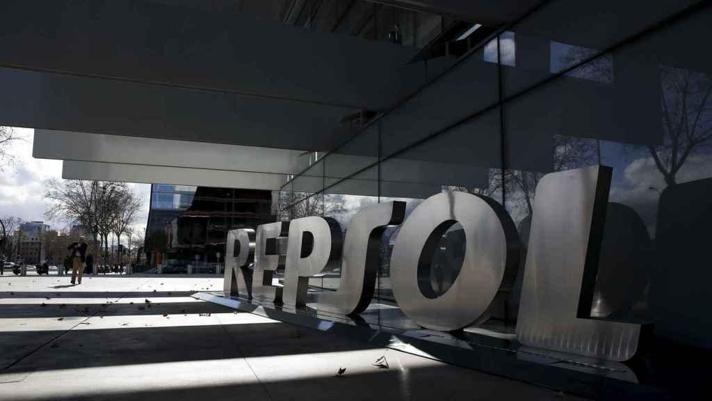 El logo de Repsol.