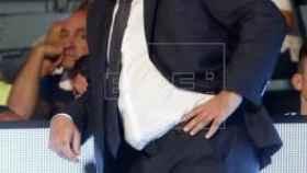 Pablo Laso en el partido contra Obradoiro