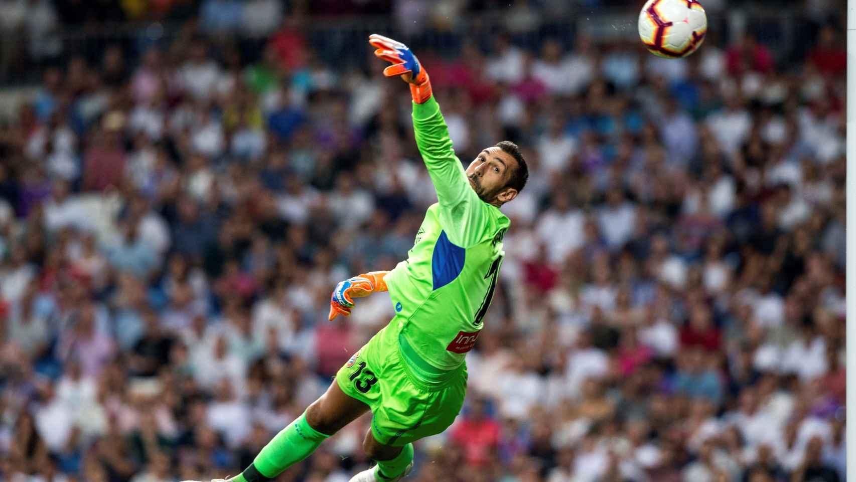 Diego López durante el partido del Espanyol ante el Real Madrid