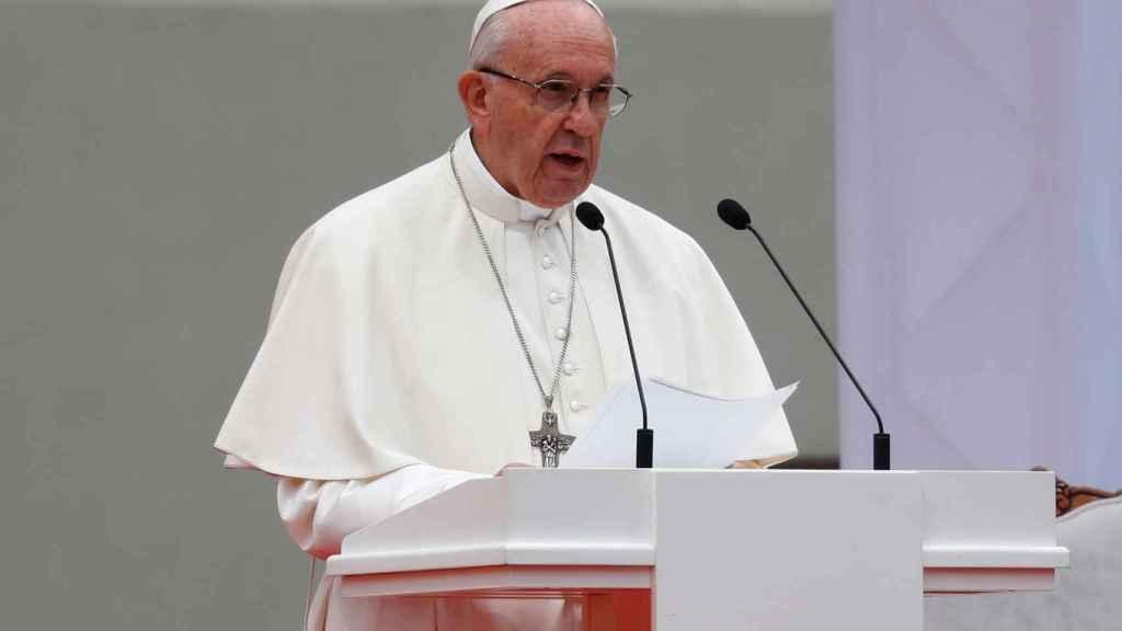 El papa Francisco durante un acto en Lituania este sábado.