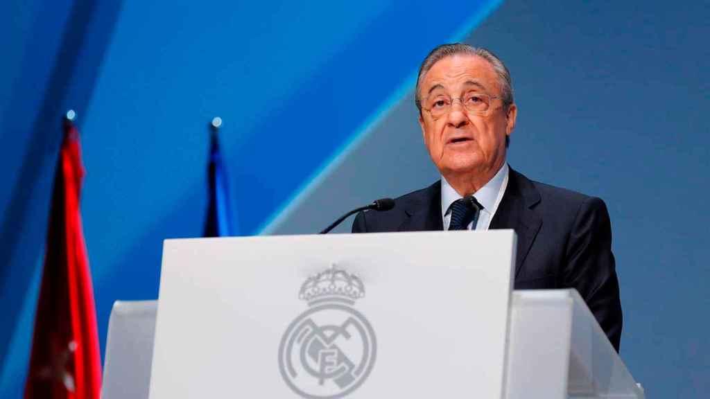 Florentino Pérez, en la Asamblea del Real Madrid
