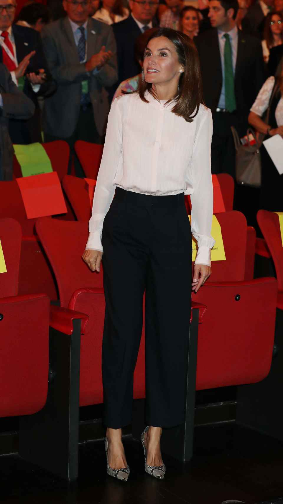 La reina Letizia en su primer acto de la semana.
