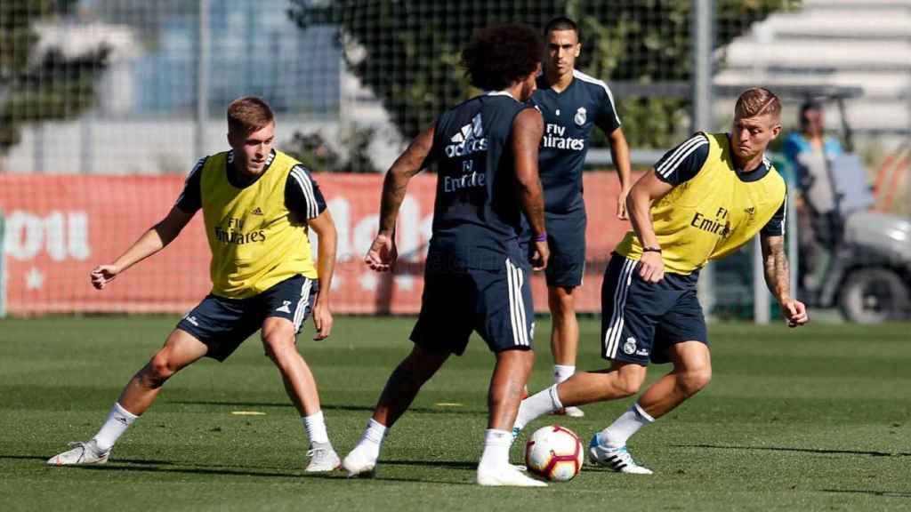 Entrenamiento del Real Madrid previo al Sevilla