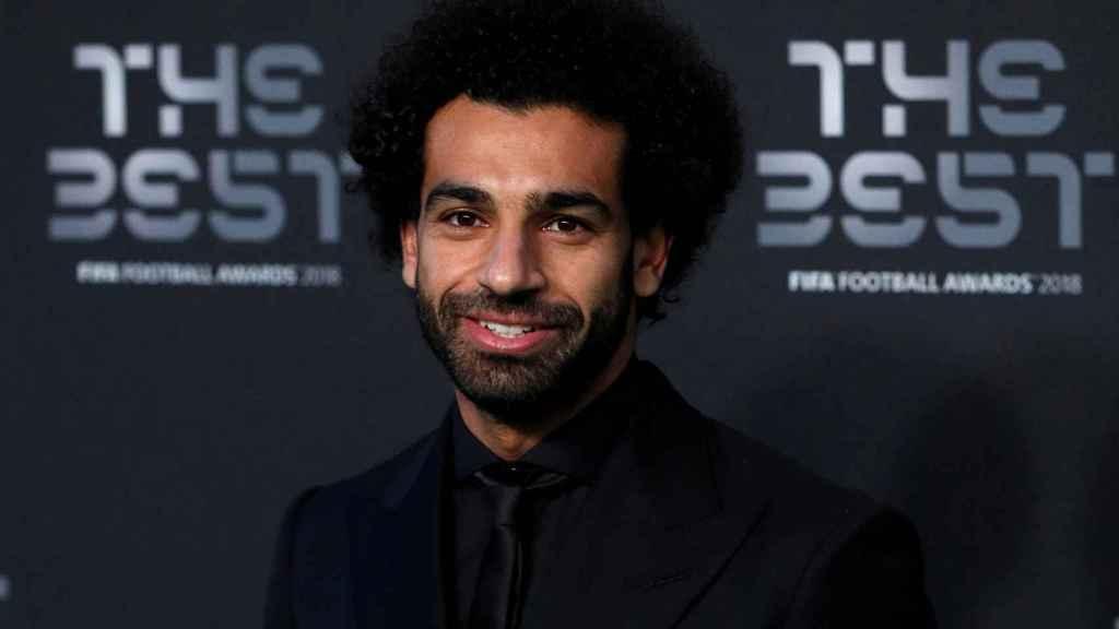 Mohamed Salah en la gala The Best