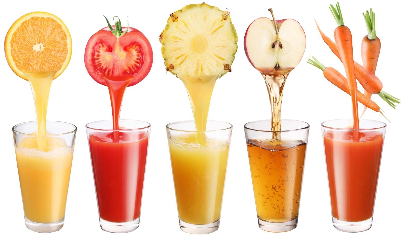 Frutas y zumo