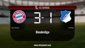 El Bayern München ganó en su estadio al Hoffenheim