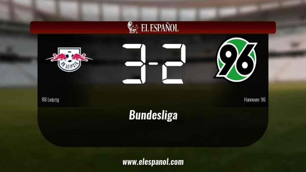 Tres puntos para el equipo local: RB Leipzig 3-2 Hannover 96