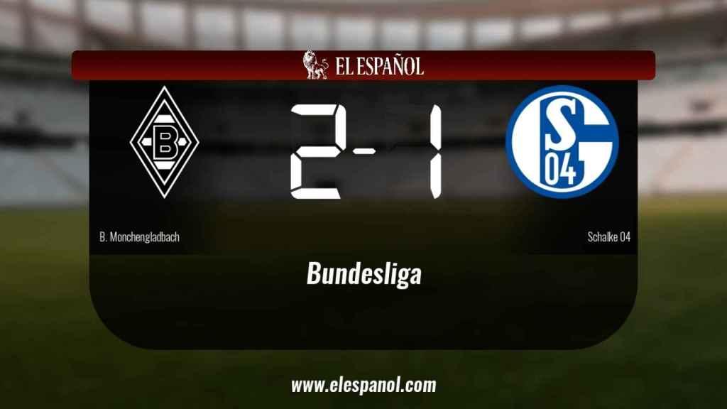 Victoria 2-1 del Borussia Monchengladbach frente al Schalke 04