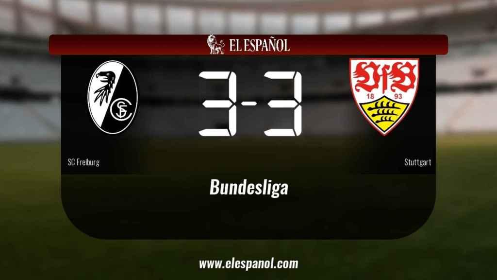 Empate a tres entre el SC Freiburg y el Stuttgart