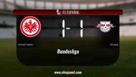 Empate, 1-1, entre el Eintracht Frankfurt y el RB Leipzig