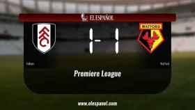 Empate (1-1) entre el Fulham y el Watford