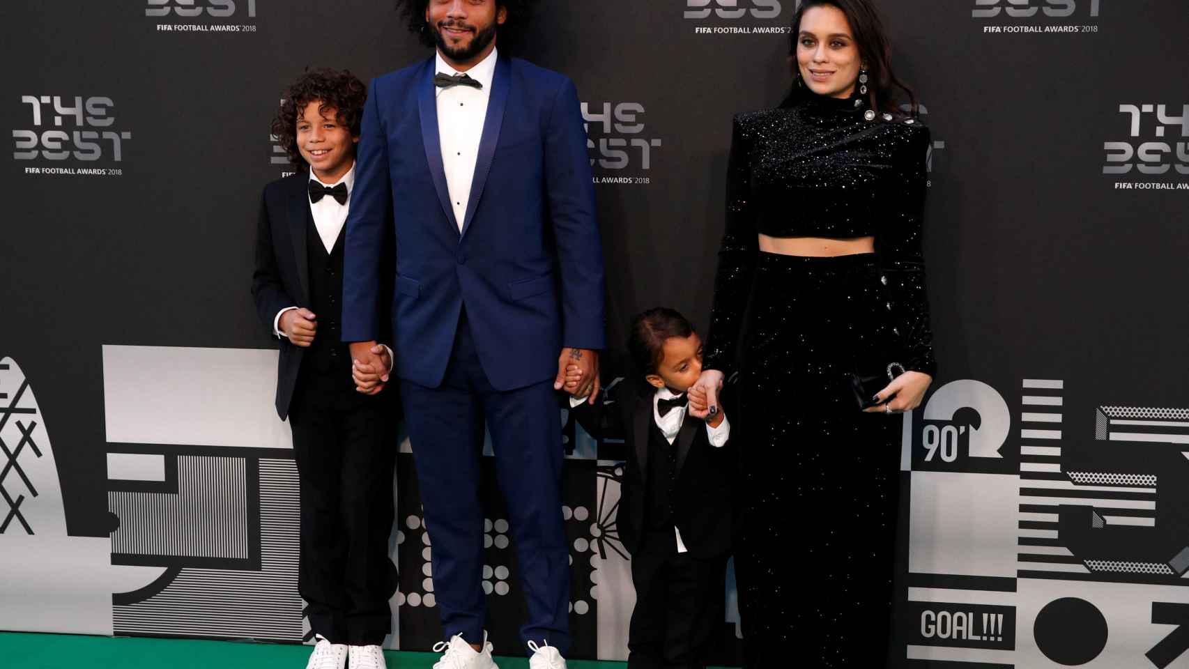 Marcelo, con su familia en la gala de los The Best de la FIFA
